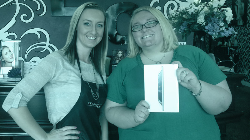 Eye Candy Salon Contest Winner of an iPad